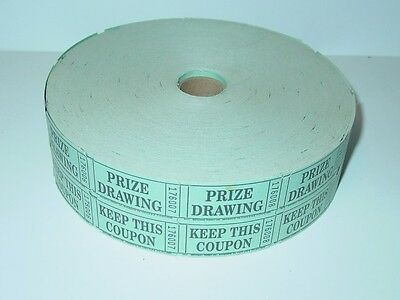 Vintage Prize Drawing Raffle Amusement Park Carnival Ticket Roll National