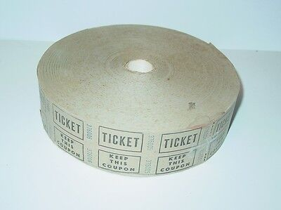 Vintage Prize Drawing Raffle Amusement Park Carnival Ticket Roll Coupon