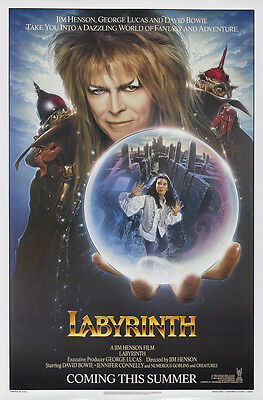 LABYRINTH LAMINATED MINI MOVIE A4 POSTER PRINT DAVID BOWIE style 2
