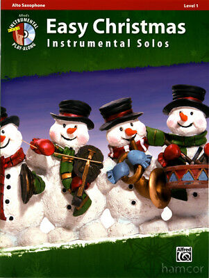 Easy Christmas Instrumental Solos Alto Sax Saxophone Music Book & Play-Along CD