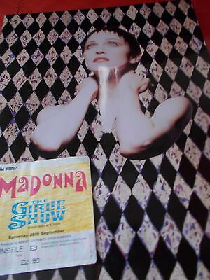 Madonna Tour Programme And Ticket