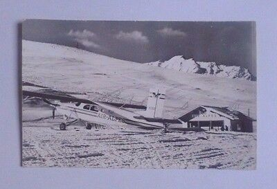 """Airline-Issued Postcard / Air Alpes / Pilatus Pc-6A """"turbo Porter"""" / Courchevel"""