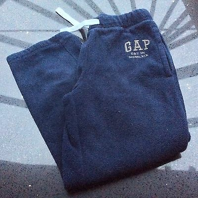 Navy Blue Fleece Tracksuit Trousers By Gap Kids Age 8-9 Years