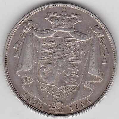 1834 William Iv Silver Halfcrown In A Good Very Fine Or Better Condition