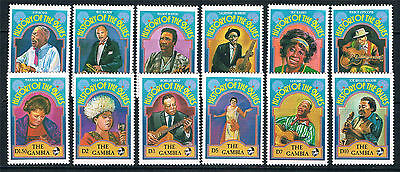 Gambia 1992 Blues Singers SG 1267/78 MNH