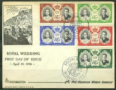 Monaco 1955 Wedding Grace Kelly And Prince Rainer First Day Cover