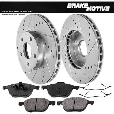 Front 278 mm Quality Brake Disc Rotors and Ceramic Pads Kit 2012 2013 FORD FOCUS