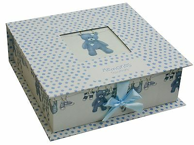 New Baby Keepsake Memory Box ~ Blue Baby Boy Keepsake Storage Box