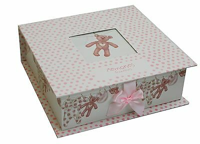 New Baby Keepsake Memory Box ~ Pink Baby Girl Keepsake Storage Box