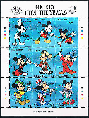 Gambia 1989 Mickey Mouse Birthday Sht SG 849a MNH