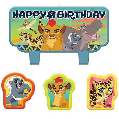 LION GUARD MINI CANDLE SET (4) ~ Birthday Party Supplies Cake Decoration Cupcake