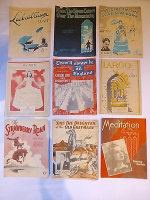 A lot of vintage sheet music x 9