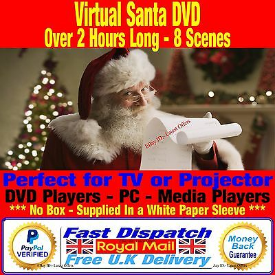 Virtual Santa Claus DVD Digital Christmas Decorations For TV / Projector + MP4