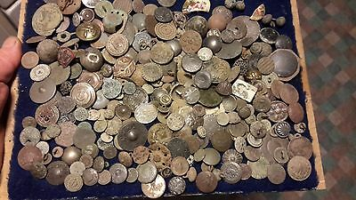 Very Big Lot Of Detecting Found Buttons From Various Countries