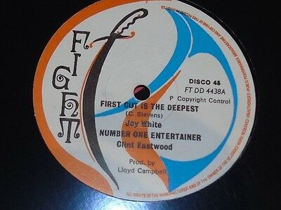 """Joy White First Cut Is The Deepest Itals Clint Eastwood 12"""" Roots Dancehall"""
