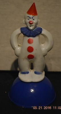 Vintage Rosbro Clown is a Mid-century Candy Container Figurine