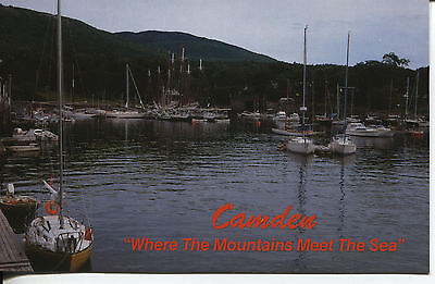 """Post Card Of Camden Maine """"where The Mountains Meet The Sea"""""""