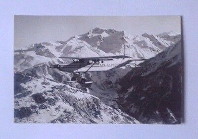 """Airline-Issued Postcard / Air Alpes / Pilatus Pc-6A """"turbo Porter"""""""