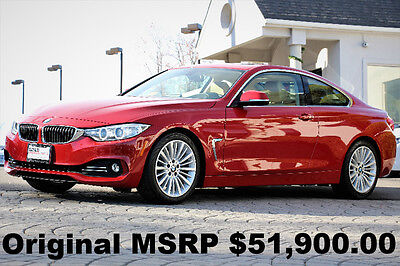 2014 BMW 4-Series 428i Coupe Luxury Line 2014 6 Speed Manual Trans Navigation Rear View Camera Head Up Display Red Loaded
