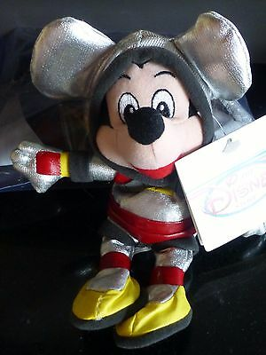 SPACEMAN Astronaut Mickey MOUSE Micky MAUS BEAN BAG Plüsch Disney Store