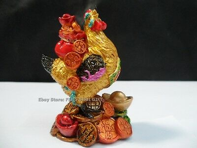 Chinese Year of the Chiken/Rooster Zodiac Sign Feng Shui Lucky Figurine Statue D