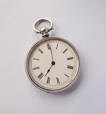 Antique Ornate Silver Cased Pocket Watch,  For Repair