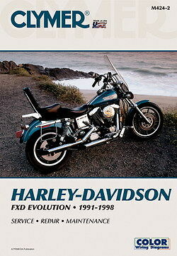 Harley Davidson FXD Dyna Ampiezza Scivolo Decappottabile 91-98 Clymer Manuale