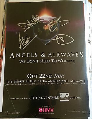 Angels & Airwaves - We Don't Need To Whisper Promo poster Signed Autographed