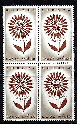 Greece (4996) 1964 Europa 4d50 in unmounted block of 4
