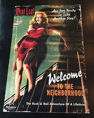 """Meat Loaf Welcome to the Neighborhood Original 1995 Promo Poster 24""""X36"""" MINT"""