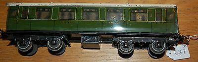 HORNBY SERIES O GAUGE No 2 CORRIDOR COACH SOUTHERN REGION LIVERY