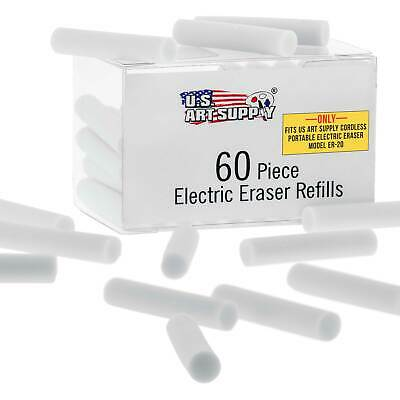 US Art Supply Electric Eraser Refills - White Eraser Strips - 60/BX