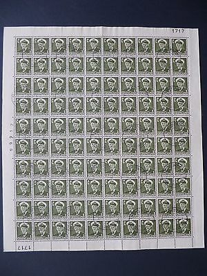 GREENLAND :- 1950 :  Complete CTO Sheet of 100.