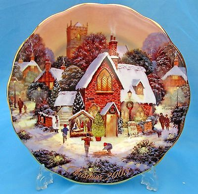 Royal Doulton ~ Xmas Collector Plate ~ The Rectory ~ 2005 ~  With Cert