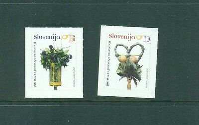 Slovenia 2010 Definitive B D decorations Self Adhesives MNH
