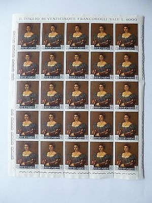 "SAN MARINO :- 1966 : "" Titian Paintings "" 4 x Complete  Mint Sheets."
