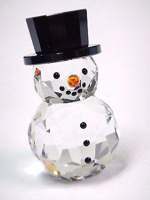 Snowman With Hat 2015 Swarovski Crystal Xmas  #5135852