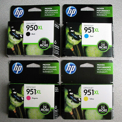 NEW Genuine HP 950XL black + 951XL colors