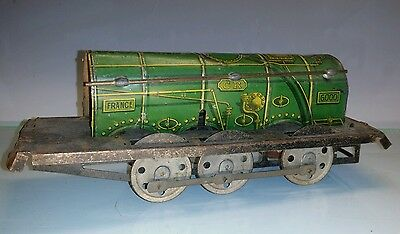 Early French CR clockwork tinplate train for restoration