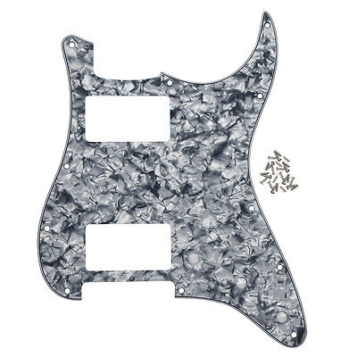 Grey Pearl 11 Holes St Guitar Pickguard 4ply Hh Guitar Pickguard For Fd Strat Guitar Sports & Entertainment