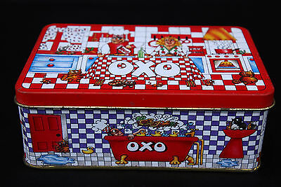 Collectable OXO Cubes Tin winner of 1990 Graphic Design Award.