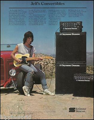 Jeff Beck 1985 Seymour Duncan guitar amp with Fender Telecaster 8 x 11 ad