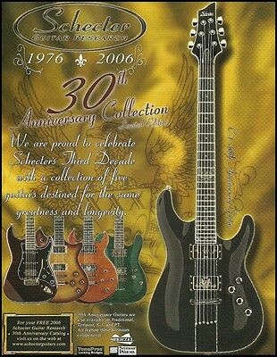 Schecter Guitar Research 30th Anniversary Collection ad 8 x 11 advertisement