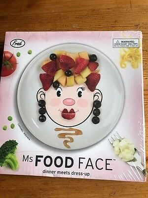 Ms. Food Face plate make a face NEW Gift get kids to eat their food fred