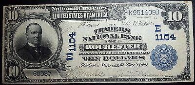 1902 $10 Rochester New York National Bank Note