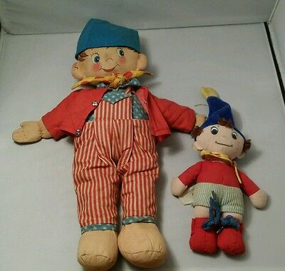 Rare Vintage Noddy doll 1950s and a golden bear one
