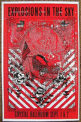 EXPLOSIONS IN THE SKY 2016 Gig POSTER Portland Oregon Concert