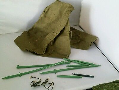 ORIGINAL VINTAGE ACTION MAN TENT 1970s ARMY GREEN