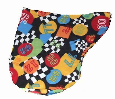 Ecotak racing flag polar fleece saddle cover