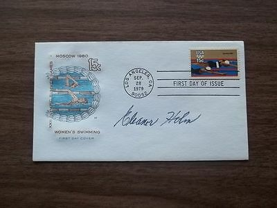 ELEANOR HOLM signed 1979 SWIMMING FDC (Olympics, Tarzan) Johnny Weissmuller